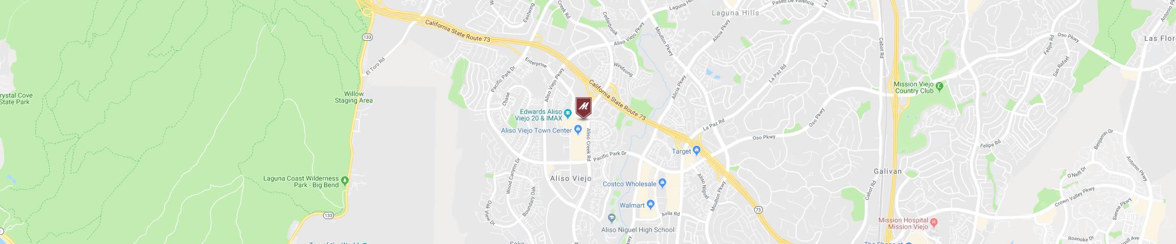 Google Map for the Aliso Viejo Location