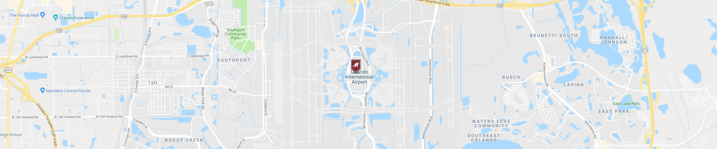 Google Map for the Orlando Airport Location