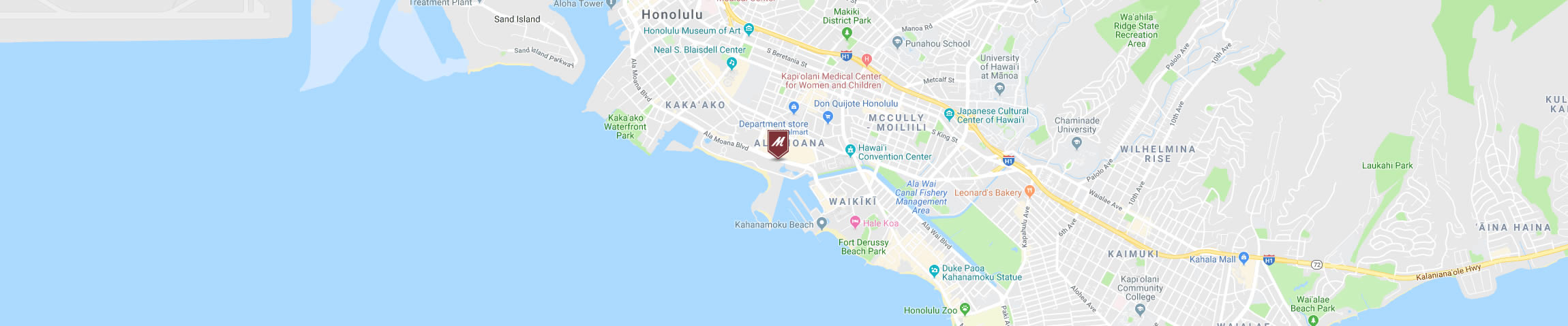 Google Map Image for the Romano's Macaroni Grill Honolulu Location
