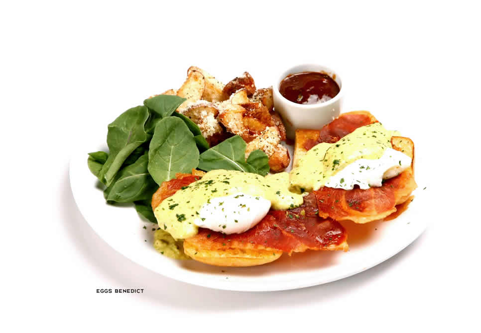 Romano's Macaroni Brunch Menu | Eggs Benedict